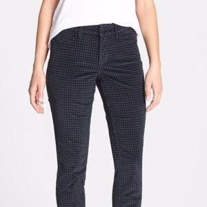 NYDJ Houndstooth Corduroy skinny pants sz 10